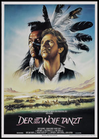 "Dances With Wolves (Neue Constantin Film, 1990). German A1 (23.5"" X 33""). Academy Award Winner"