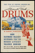 "Movie Posters:Adventure, Drums (United Artists, 1938). One Sheet (27"" X 41""). Adventure. ..."