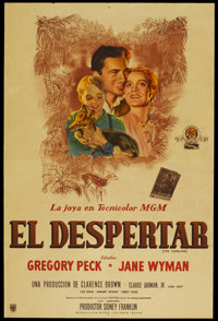 """The Yearling (MGM, 1946). Argentinean Poster (29"""" X 43""""). Drama"""