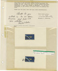 Explorers:Space Exploration, Lot of Nine Astronaut Signatures, including: Charles D. Gemar, JimWetherbee, Steve Oswald, Carl Meade, Michael Baker, and B...(Total: 9 Item)