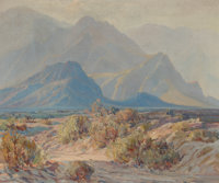 G. ALFRED (American, 20th century) Desert Colors, 1940 Oil on canvas 25 x 30 inches (63.5 x 76.2