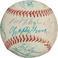 Autographs:Baseballs, 1971 Hall of Fame Induction Ceremony Baseball Signed by 18....