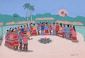 Works on Paper, FRED BEAVER (American, 1911-1980). Seminole Stomp Dance, 1955. Tempera on paper. 15 x 22 inches (38.1 x 55.9 cm). Signed...