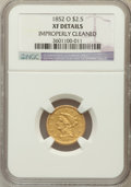 Liberty Quarter Eagles, 1852-O $2 1/2 -- Improperly Cleaned -- NGC Details. XF. NGC Census:(26/414). PCGS Population (24/163). Mintage: 140,000. N...