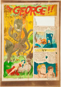 """Memorabilia:Comic-Related, Weird Fantasy #15 Complete 7-page Story """"By George!!"""" SilverprintColor Guide (EC, 1952).... (Total: 7 Items)"""