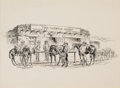 Works on Paper, GEORGE PHIPPEN (American, 1915-1966). The New Saddle. Pen and ink on paper. 8-1/2 x 12 inches (21.6 x 30.5 cm). Signed l...