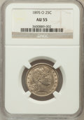 Barber Quarters: , 1895-O 25C AU55 NGC. NGC Census: (1/86). PCGS Population (14/92).Mintage: 2,816,000. Numismedia Wsl. Price for problem fre...