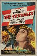 "Movie Posters:Adventure, The Crusades (Paramount, R-1948). One Sheet (27"" X 41"").Adventure.. ..."