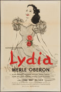 "Lydia (United Artists, 1941). One Sheet (27"" X 41""). Romance"