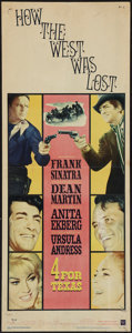 """Movie Posters:Western, 4 for Texas (Warner Brothers, 1963). Insert (14"""" X 36""""). Western.. ..."""
