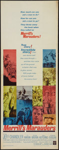 "Movie Posters:War, Merrill's Marauders (Warner Brothers, 1962). Insert (14"" X 36"").War.. ..."