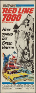 """Movie Posters:Sports, Red Line 7000 (Paramount, 1965). Insert (14"""" X 36""""). Sports.. ..."""