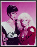 """Movie Posters:Miscellaneous, Lynda Carter and Loni Anderson (Carson Productions). Autographed Reprint Photo (8"""" X 10""""). Miscellaneous.. ..."""
