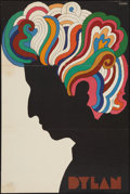 "Movie Posters:Rock and Roll, Bob Dylan by Glaser (1966). Poster (22"" X 33""). Rock and Roll.. ..."