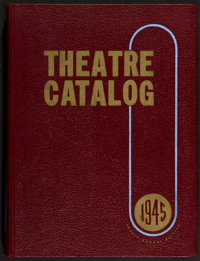 "1945 Theatre Catalog (Jay Emanuel, 1946). Hardbound Exhibitor Theatre Catalog (583 Pages, 9.5"" X 12.5""). Misce..."