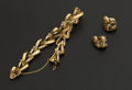 Estate Jewelry:Coin Jewelry and Suites, 18K Gold Bracelet & Matching Earrings. ... (Total: 2 Items)