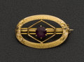 Estate Jewelry:Brooches - Pins, Estate Amethyst Gold Brooch. ...