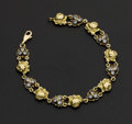 Estate Jewelry:Bracelets, 18k Gold Rose Bracelet. ...