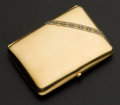 Estate Jewelry:Other , Early 18k Gold & Diamond Cigarette Case. ...
