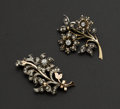 Estate Jewelry:Brooches - Pins, Two Mallorca Floral Spray Brooches. ... (Total: 2 Items)