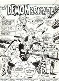 Original Comic Art:Splash Pages, John Buscema and Don Perlin Thor #213 Splash Page 1 OriginalArt (Marvel, 1973)....