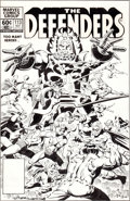 Original Comic Art:Covers, Don Perlin and Steve Mitchell The Defenders #113 Cover Original Art (Marvel, 1982)....