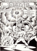 Original Comic Art:Splash Pages, Don Perlin and Joe Sinnott The Defenders #105 Splash Page 1Original Art (Marvel, 1981)....