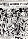 Original Comic Art:Splash Pages, Don Perlin and Hillary Barta The Defenders #115 Splash Page1 Original Art (Marvel, 1981)....