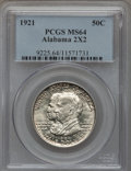 Commemorative Silver: , 1921 50C Alabama 2x2 MS64 PCGS. PCGS Population (737/507). NGCCensus: (710/435). Mintage: 6,006. Numismedia Wsl. Price for...