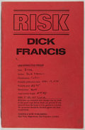 Books:Mystery & Detective Fiction, Dick Francis. Risk. Harper & Row, 1978. Uncorrectedproof. Mild rubbing and toning to wrappers and page edges. Front...