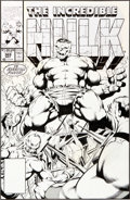 Original Comic Art:Covers, Dale Keown and Bob McLeod The Incredible Hulk #369 Freedom Force Cover Original Art (Marvel, 1990)....