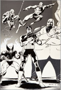 Original Comic Art:Illustrations, Jim Lee The Punisher War Journal Promotional IllustrationOriginal Art (1988)....