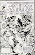 Original Comic Art:Covers, Jim Valentino and Dan Panosian Guardians of the Galaxy #21Cover Original Art (Marvel, 1992)....