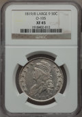 Bust Half Dollars: , 1819/8 50C Small 9 XF45 NGC. O-105. NGC Census: (42/192). PCGSPopulation (20/119). Numismedia Wsl. Price for problem fre...