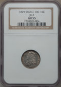 Bust Dimes: , 1829 10C Small 10C AU55 NGC. JR-3. NGC Census: (17/202). PCGSPopulation (18/137). Mintage: 770,000. Numismedia Wsl. Price...