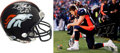 Football Collectibles:Photos, Tim Tebow Signed Oversized Photo and Mini-Helmet....