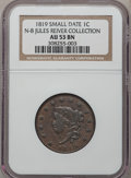 Large Cents, 1819 1C Small Date AU53 NGC. N-8. Jules Reiver Collection. PCGSPopulation (3/50). Numismedia Wsl. Pri...