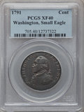 Colonials: , 1791 1C Washington Small Eagle Cent XF40 PCGS. PCGS Population(20/178). NGC Census: (1/54). (#705). From The Dr. Charl...