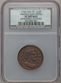 Colonials: , 1760 1/2P Hibernia-Voce Populi Halfpenny -- Improperly Cleaned --NCS. XF Details. NGC Census: (6/48). PCGS Population (35/...