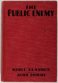 Books:Fiction, Kubec Glasmon, et al. INSCRIBED BY JAMES CAGNEY. The PublicEnemy. Grosset & Dunlap, 1931. Photoplay edition. ...