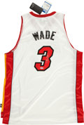 Basketball Collectibles:Uniforms, Dwayne Wade Signed Miami Heat Jersey ...