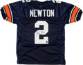 Football Collectibles:Uniforms, Cam Newton Signed Auburn Tigers Jersey ...