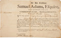 Autographs:Statesmen, Samuel Adams Military Appointment Signed...