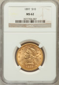 Liberty Eagles: , 1897 $10 MS62 NGC. NGC Census: (3448/1409). PCGS Population(1870/716). Mintage: 1,000,159. Numismedia Wsl. Price for probl...