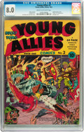 Golden Age (1938-1955):Superhero, Young Allies Comics #2 (Timely, 1941) CGC VF 8.0 Cream to off-white pages....