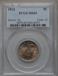 Liberty Nickels: , 1912 5C MS65 PCGS. PCGS Population (157/25). NGC Census: (127/11).Mintage: 26,236,714. Numismedia Wsl. Price for problem f...