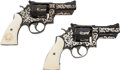 Handguns:Double Action Revolver, Custom Pair of Smith & Wesson Double Action Revolvers Belonging to Texas Ranger Captain Clint Peoples.. ... (Total: 2 Items)