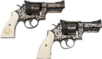 Custom Pair of Smith & Wesson Double Action Revolvers Belonging to Texas Ranger Captain Clint Peoples