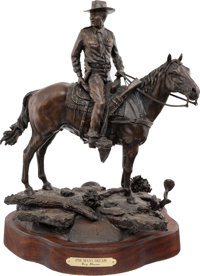"Limited Edition ""One Man's Dream"" Bronze of Texas Ranger Captain Clint Peoples on Horseback by Cary Clawson..."