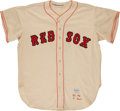 Baseball Collectibles:Uniforms, 1956 Ted Williams Signed Boston Red Sox McAuliffe Flannel Jersey. ...